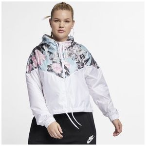 Nike Crop Windrunner Jacket Plus Sz 2X